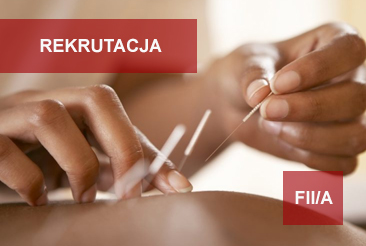 Rekrutacja – Akupunktura – grupa FIIA 2019-2022